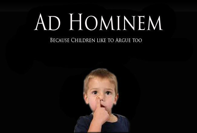 Ad Hominem example | Chuckles | Pinterest | Ad hominem
