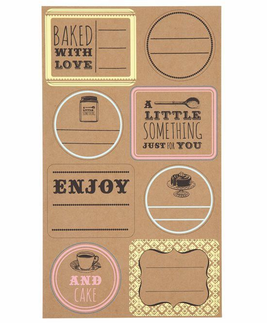 Bake Sale Labels | Talking Tables