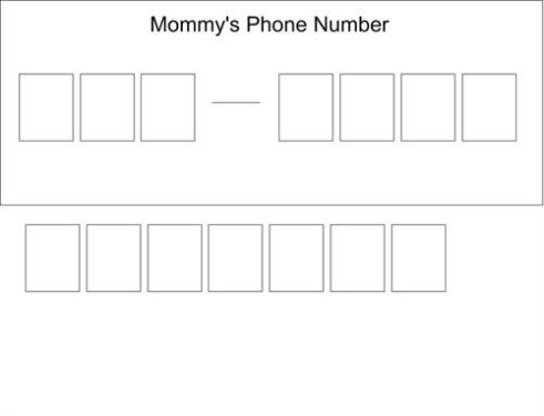 phone number template