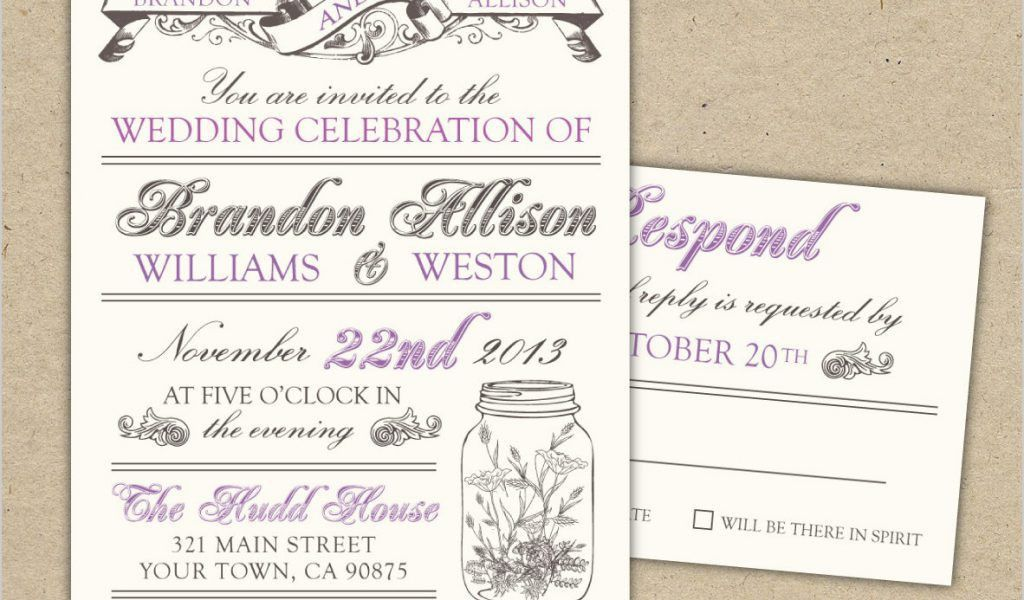 Free Wedding Invitation Templates for Word In Addition to Free ...