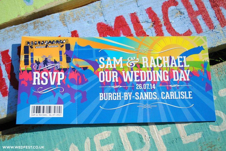 Summer Music Festival Wedding Invites   WEDFEST