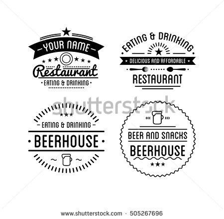 Vintage Logo Restaurant Label Beer House Stock Vector 583157230 ...