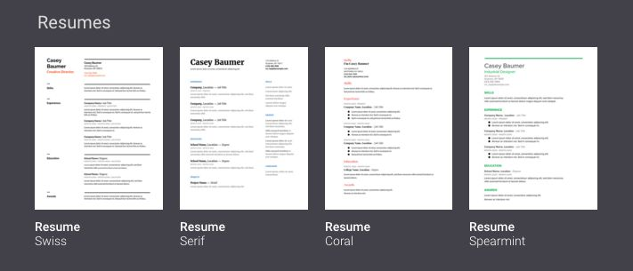 Google Drive Resume Template - Resume Example