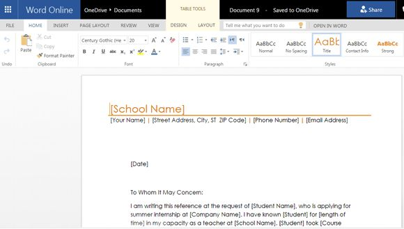 Free Letter Of Recommendation Templates For Word