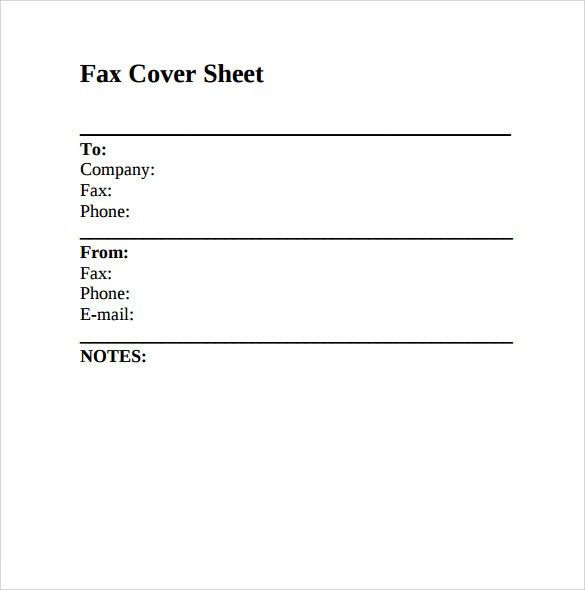 Blank Fax Cover Sheets. Printable Fax Cover Sheet Pdf Sample ...