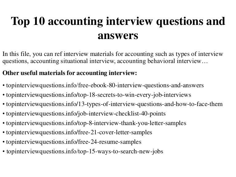 accounting interview