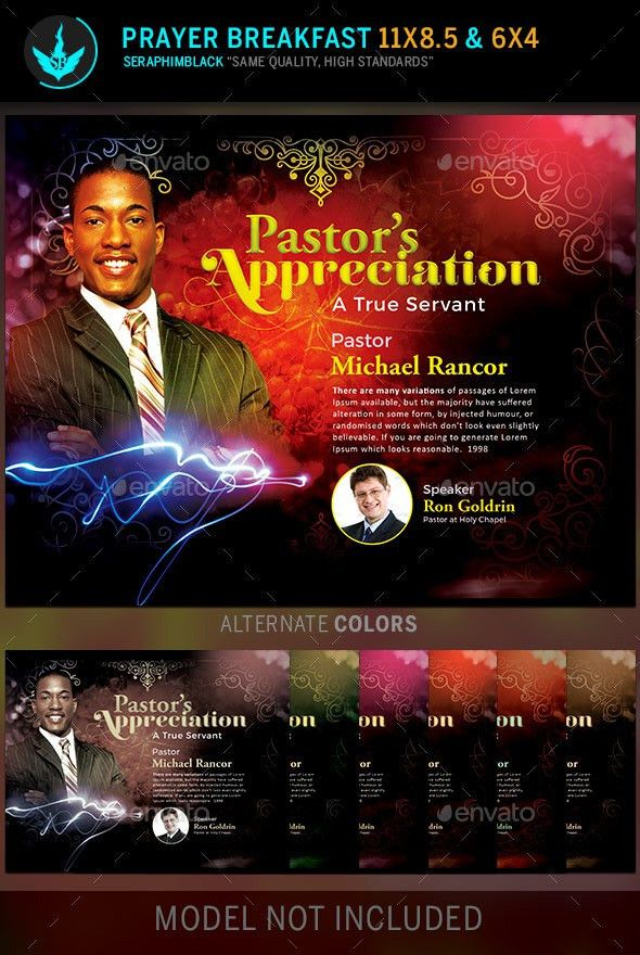 Pastor's Appreciation Church Flyer Template by SeraphimBlack ...