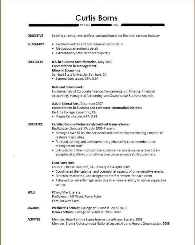 Download Resume Format Without Experience | haadyaooverbayresort.com