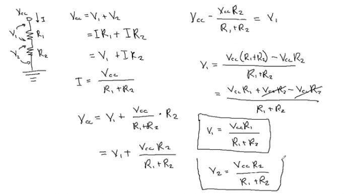 Symbols : Amazing Current Division And Voltage Divider Law Define ...
