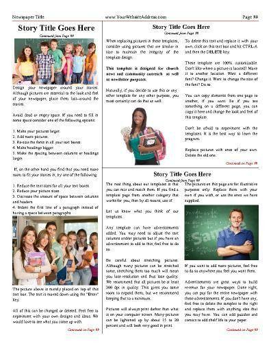 17 Best School Newspaper Templates Images On Pinterest   School .