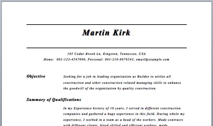 resume builders resume example free printable resume free ...