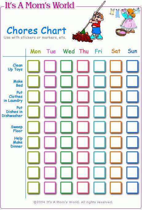 Chore Charts For Teens | Chore Charts For Teens by Wolfgang ...