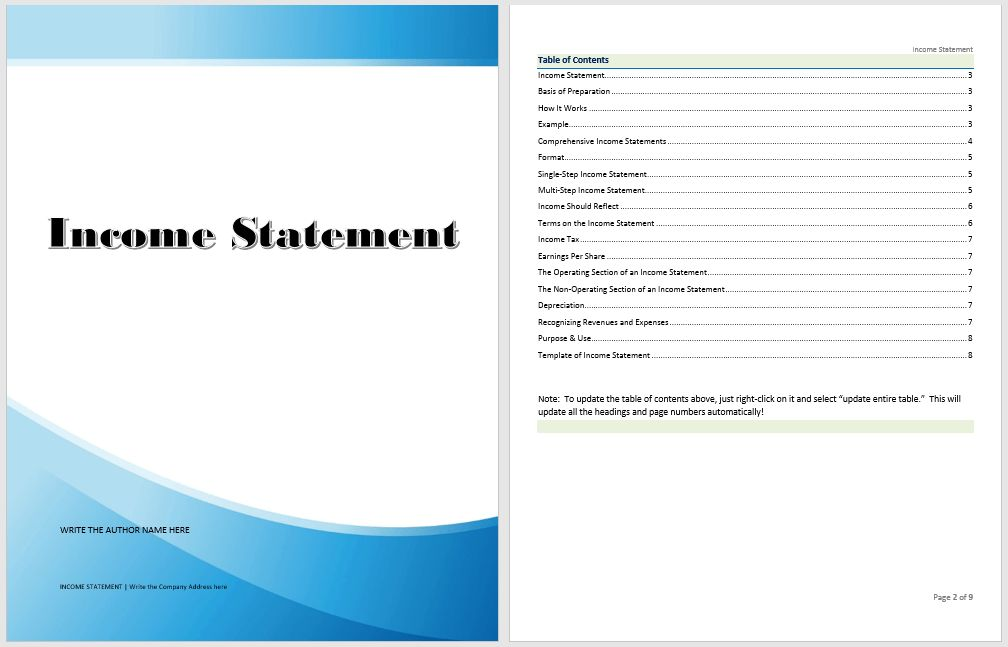 Financial Statement Template | Microsoft Word Templates