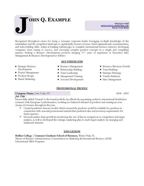Business Resume Sample Free Resume Template Professional. Choose .
