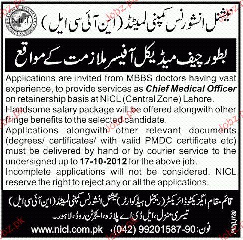 Chief Medical Officer Job Opportunity 2017 Jobs Pakistan Jobz.pk