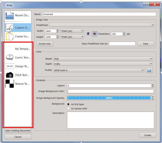 Krita/Manual/Templates - KDE UserBase Wiki