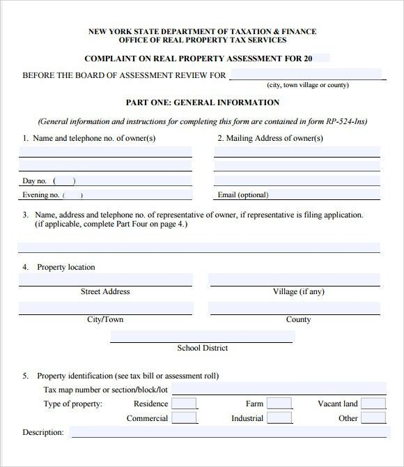 Sample Tax Assessment – 6+ Example, Format