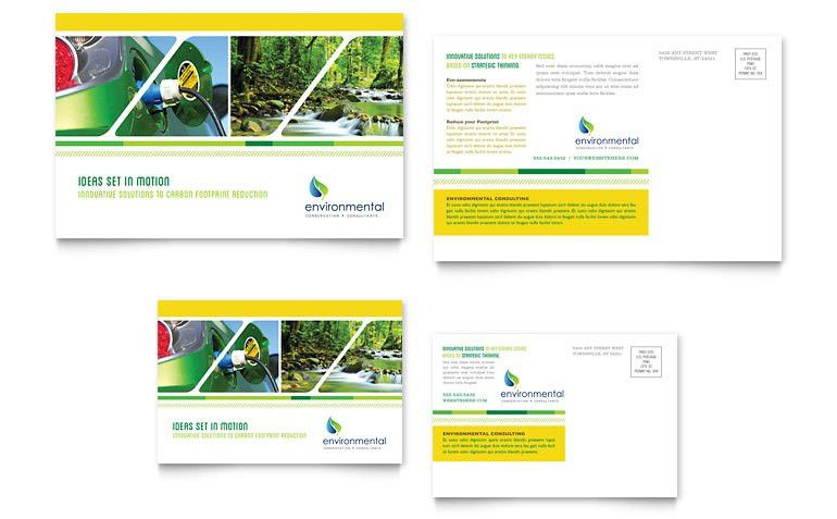 Environmental Conservation Postcard Template - Word & Publisher