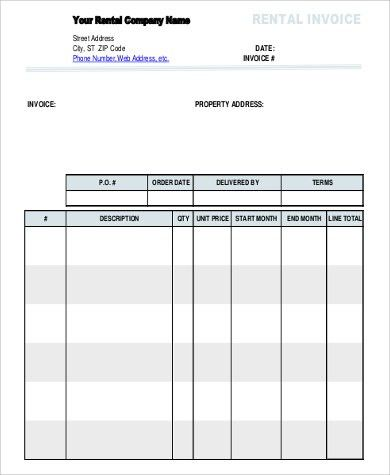 Sample Invoice - 9+ Examples in Word, PDF