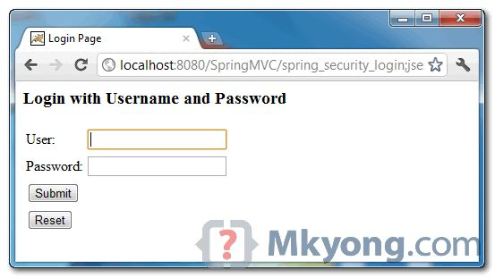 Spring Security access control example
