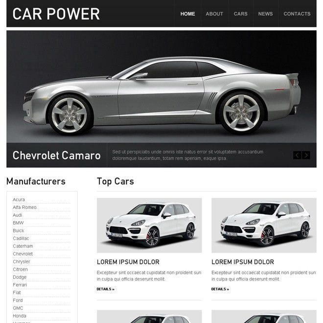 car dealer, car seller, car rental and car hire html website ...