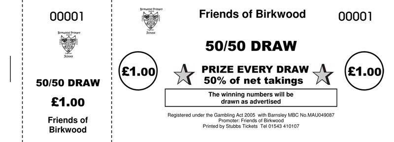 50 50 Tickets · 50 50 Raffle Ticket Printers UK