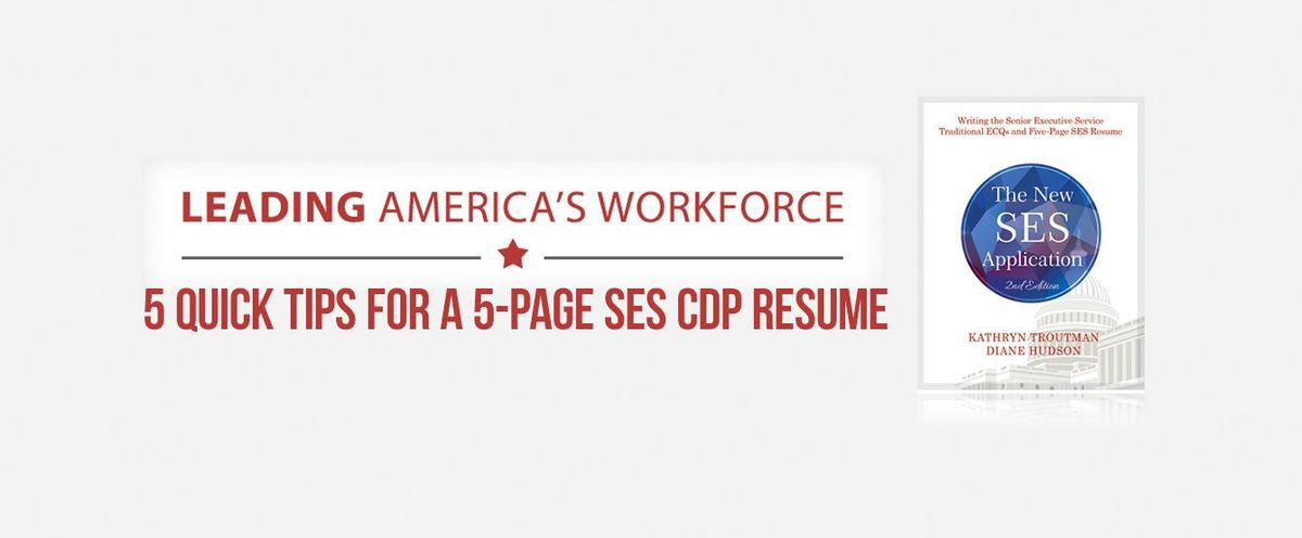 Senior Executive Service (SES) - The Resume Place