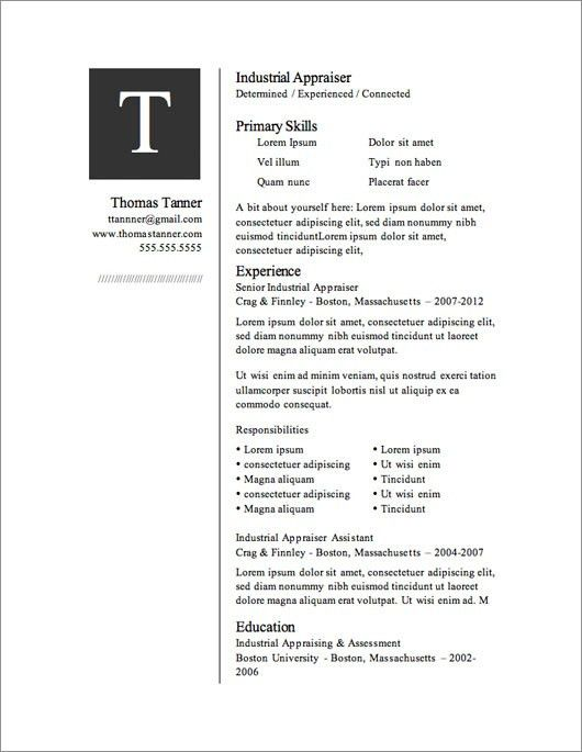 Free Templates For Resumes | health-symptoms-and-cure.com