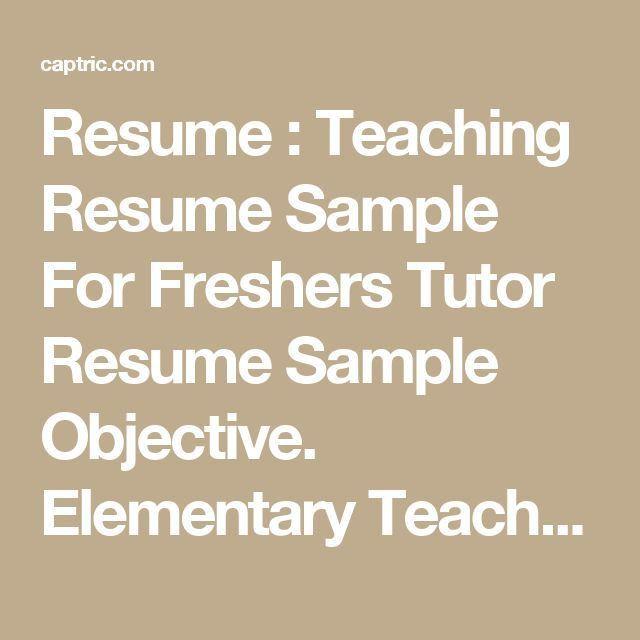 10 best Resume Samples for Job images on Pinterest | Resume, Entry ...