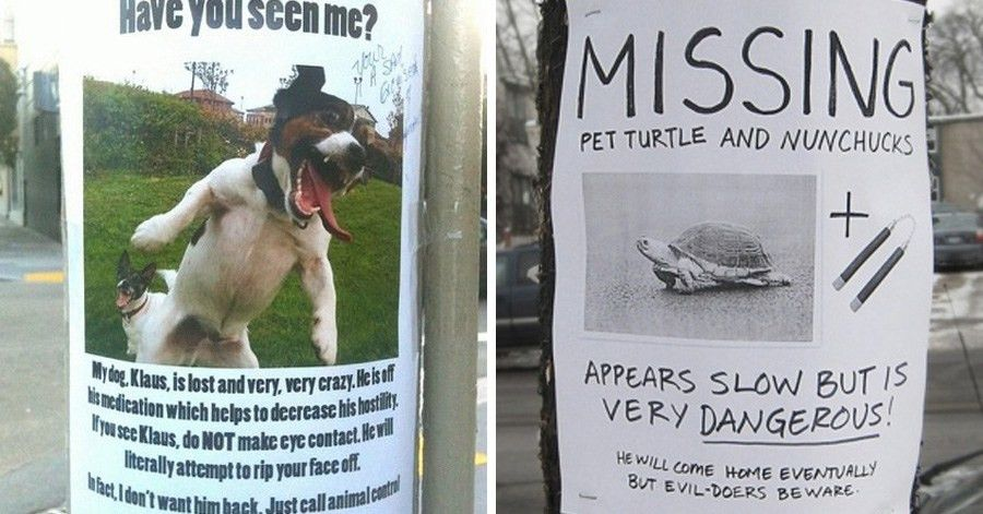 30 hilarious street posters you certainly haven't seen around