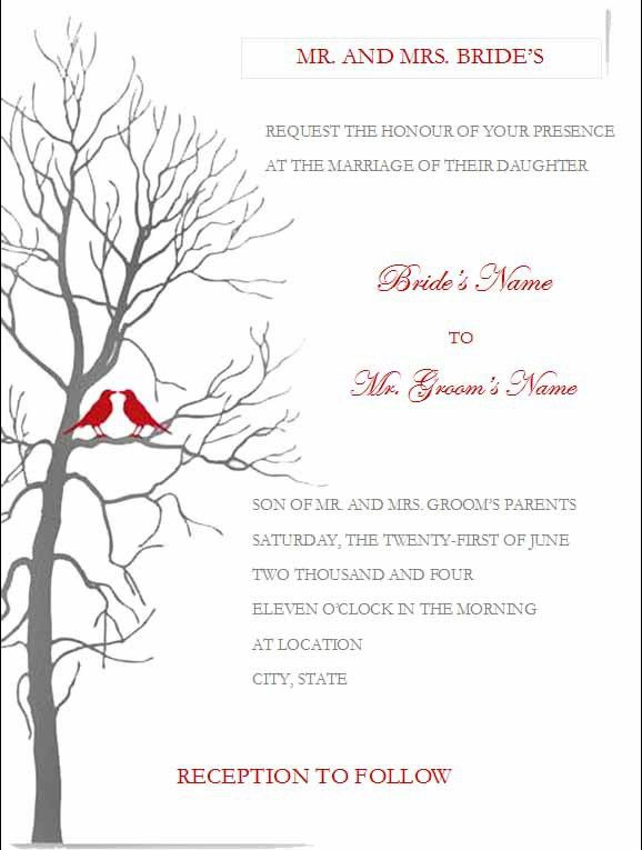 free printable wedding invites templates