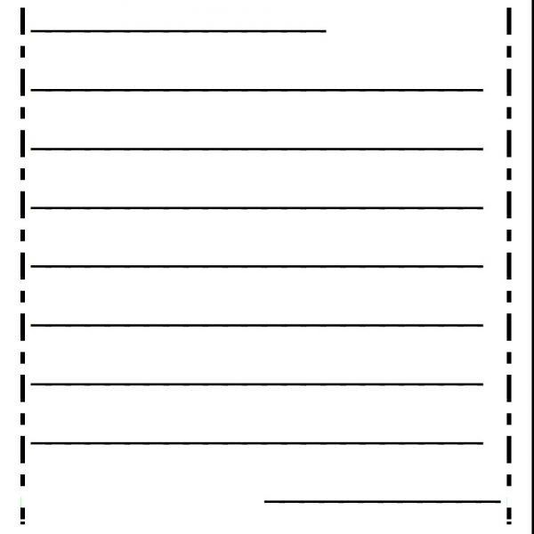 Lined Letter Writing Paper Note Paper Template intended for Letter ...