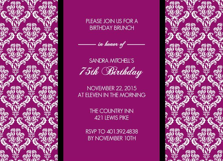 How to Make 70th Birthday Party Invitations Card | Invitations ...