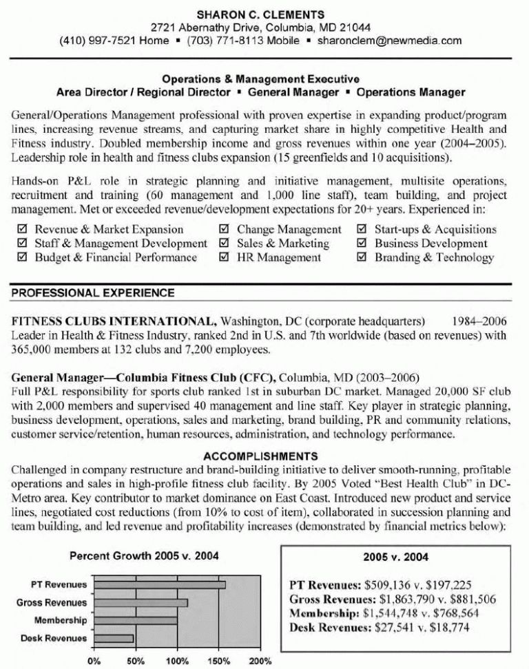 Stylist Inspiration General Manager Resume 13 General Manager ...