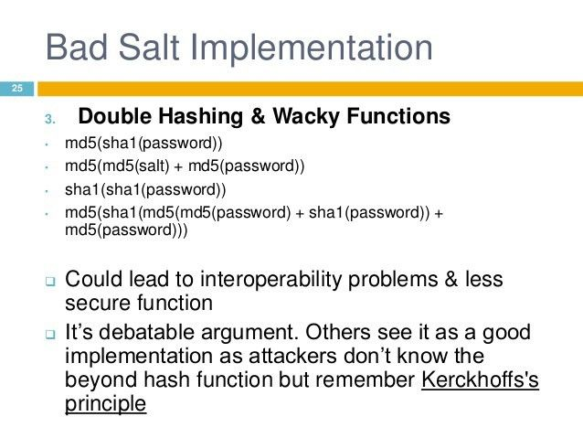 Hashing Considerations In Web Applications