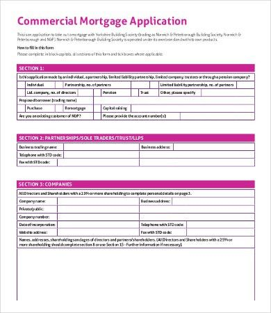 Mortgage Application Templates - 5+ Free Word, Excel, PDF Format ...