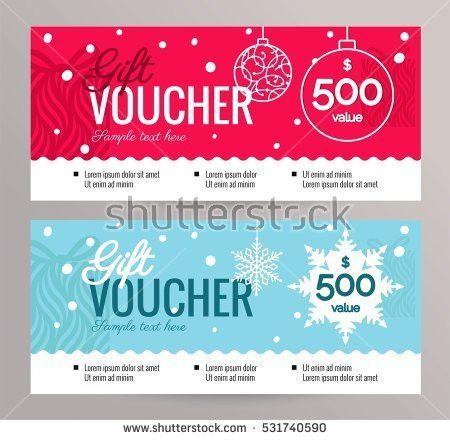 Gift Voucher Coupon Discount Gift Certificate Stock Vector ...