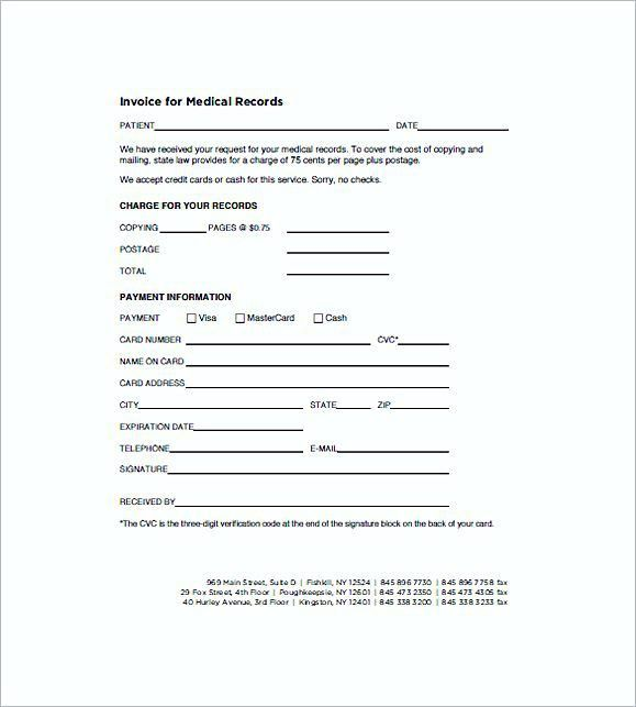 Medical Records Invoice templates , Medical Invoice Template , The ...