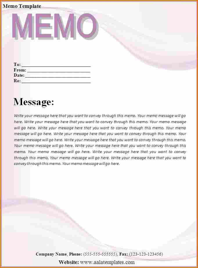 11+ word memo template | Job Resumes Word