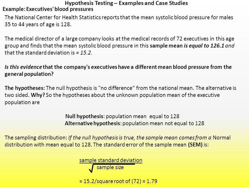 Hypothesis Testing – Examples and Case Studies - ppt video online ...
