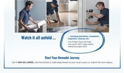 Kitchen & Bathroom Design & Remodel Services - Lowe's