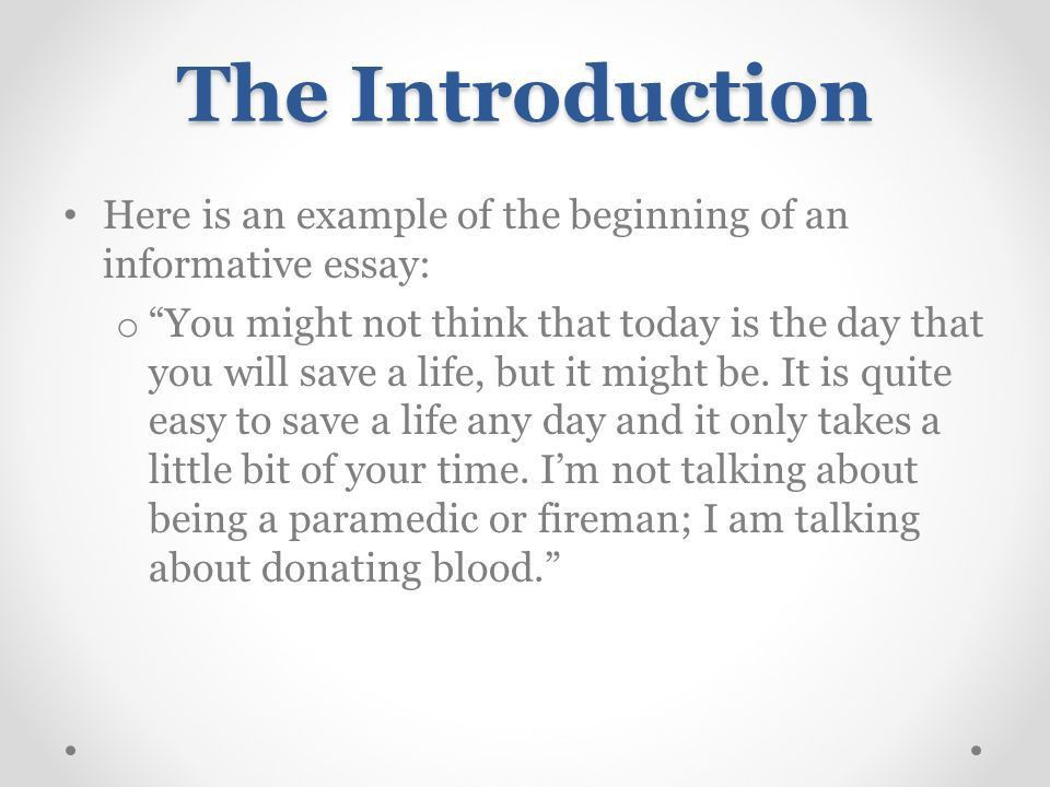 Introducing Essay 2 and Informative Writing - ppt video online ...