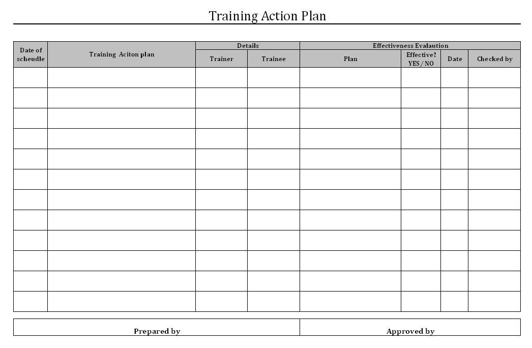 Employee Training Plan Template | peerpex