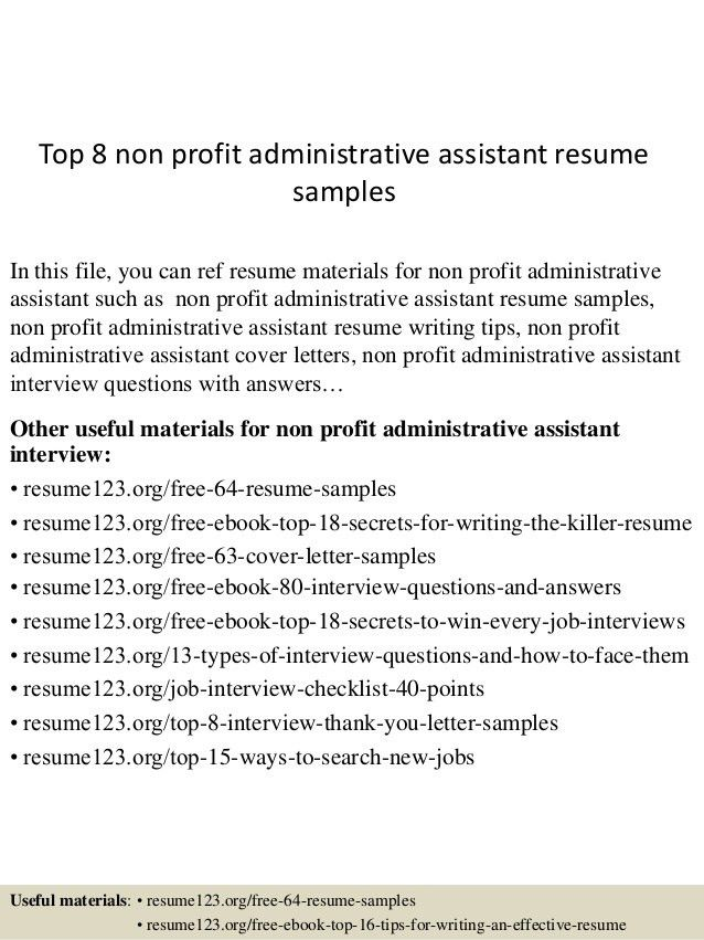 top-8-non-profit-administrative-assistant-resume-samples -1-638.jpg?cb=1431823136