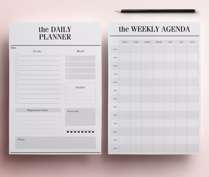 Planner Printable A5 Pack, 13 Modern Organizer Pages including ...