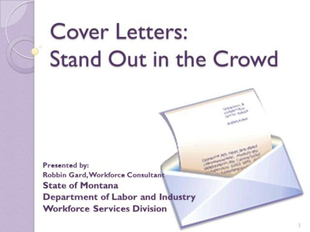 Cover Letter 101 How to have a stand out cover letter for Cover ...