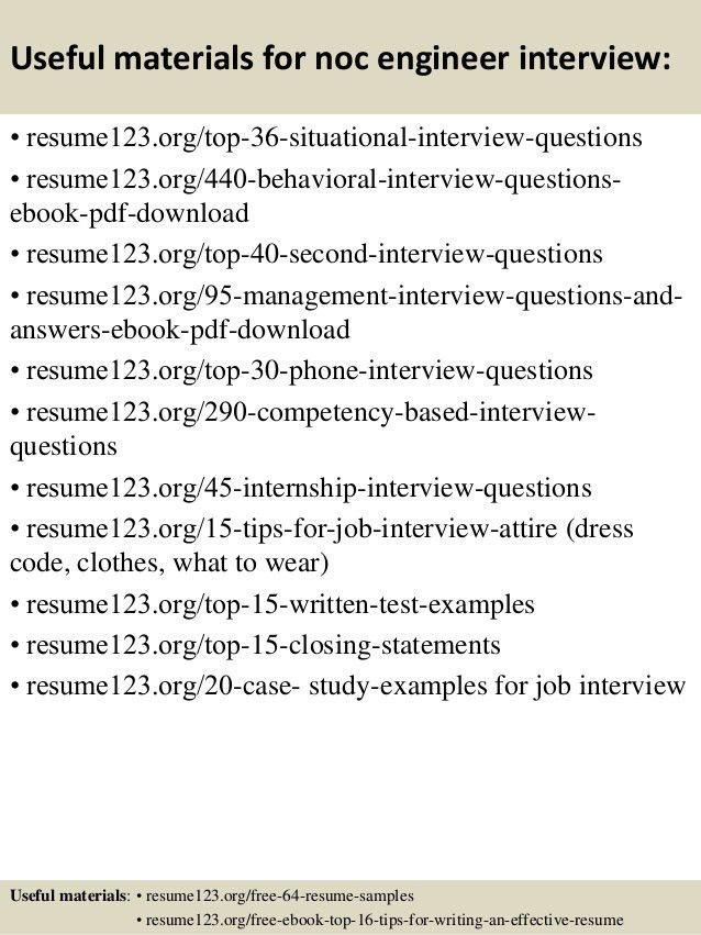 Download Noc Engineer Sample Resume | haadyaooverbayresort.com