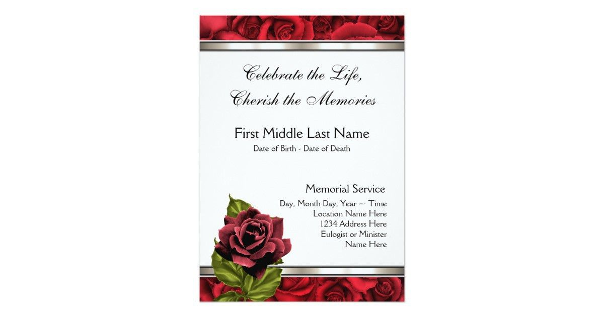 Death Announcement Cards Free | Samples.csat.co