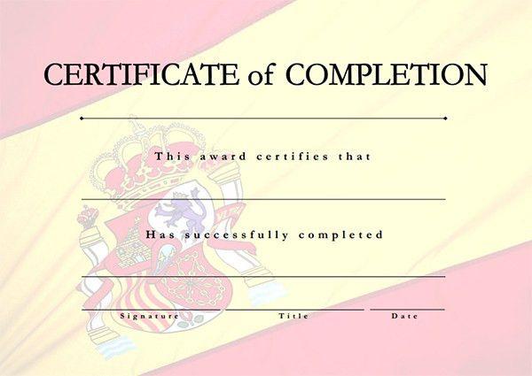 Printable Certificates of Completion | Sampleprintable.com