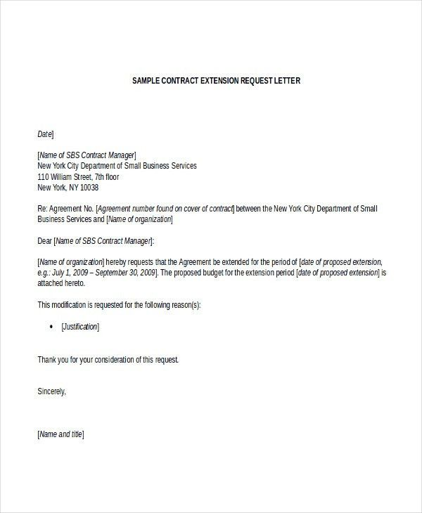Contract Letter Templates - 8+ Free Sample, Example Format ...